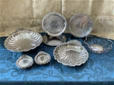 ELEGANT SILVERPLATE SERVING DISHES SHELLS X 10