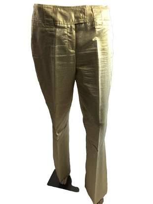DG DOLCE GABBANA SHINY GOLD DRESS PANTS M 3044