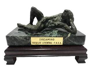 RUTH LEE LEVENTHAL DREAMING BRONZE SCULPTURE