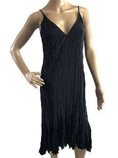 JUST CAVALLI ROBERTO BLACK CRINKLE FLIRT DRESS S