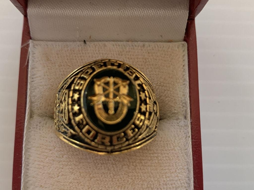 MEN'S SPECIAL FORCES GOLD RING