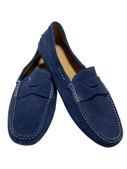 TOD'S NEW BLUE SUEDE LOAFERS SHOES MEN'S US 8