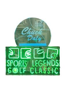 CHUCK DALY AS 2003 LEGEND HONOREE NEON SIGN DISPLY