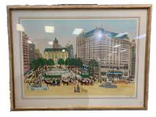 VESTIE DAVIS 1976 NUMBERED/SIGNED CITY LITHOGRAPH