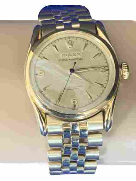 VINTAGE 14K MENS ROLEX WATCH OYSTER PERETUAL