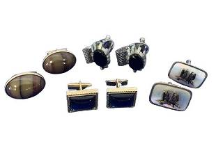 LOT OF 4 VINTAGE MENS CUFF LINKS