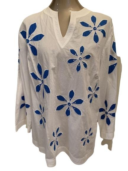 BAMBOO TRADERS 100% COTTON TOP SZ 1X