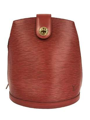 LOUIS VUITTON RED LEATHER CLUNY SHOULDER BAG