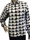 VINTAGE YOUNG VERSACE SHIRT WITH HEARTS SIZE 16