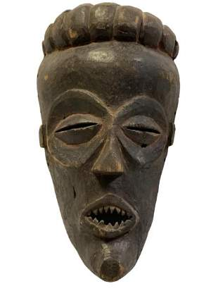HAND CARVED AFRICAN TRIBAL MASK 12