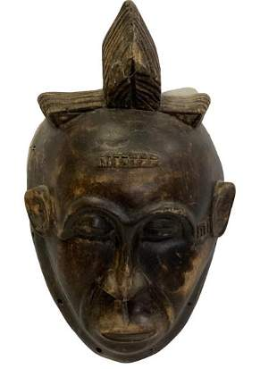 HAND CARVED AFRICAN TRIBAL MASK 11