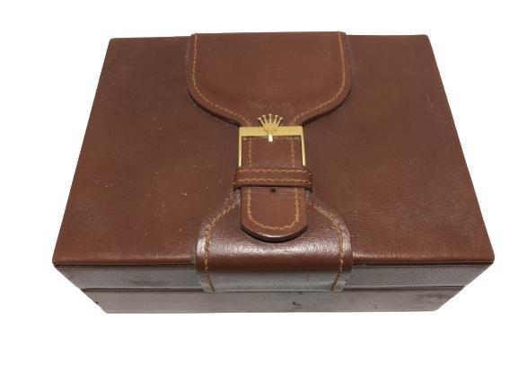 ROLEX PRESIDENTIAL LEATHER & WOOD STORAGE BOX