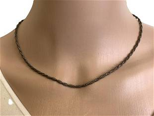 VINTAGE STERLING SILVER CHAIN NECKLACE 8 79 GMS