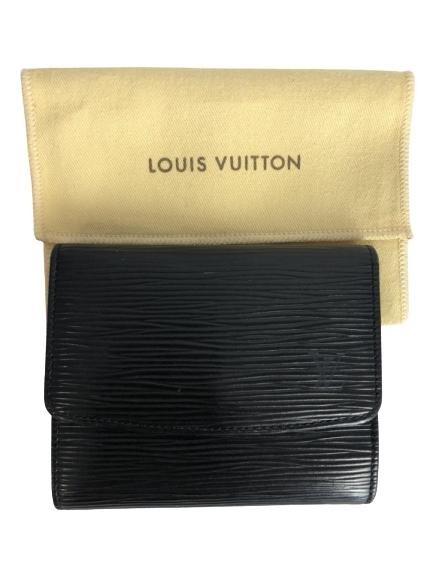 LOUIS VUITTON 12 SLOT CARD HOLDER LEATHER WALLET