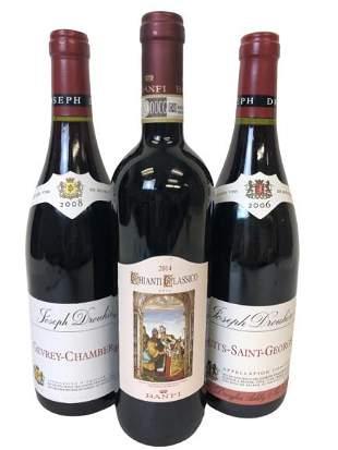 3 BOTTLES OF JOESEPH DROUHIN WINE ASSTD VARIETALS