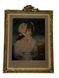 1909 KLACKNER MEZZOTINT ENGRAVING OF A WOMAN 16
