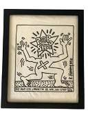 KEITH HARING 85 POP SHOP NYC ORIGINAL PRINT