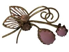 VTG WESTERN GERMANY BUTTERFLY PIN WPINK STONES