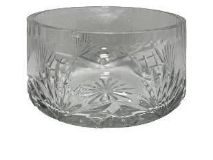 VINTAGE CUT GLASS CANDY BOWL 55 DIAMETER
