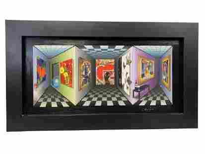 "PANGBORN ""HEARTFELT AIM"" 3D ART ON CANVAS"