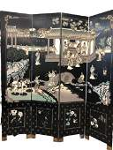 ASIAN INSPIRED 4 FOLD PRIVACY SCREEN ROOM DIVIDER