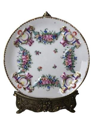 VINTAGE CAPODIMONTE CHARGER PLATE STAND 6