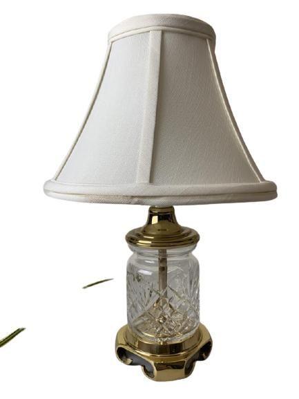 """VINTAGE CUT GLASS LAMP 13.5"""""""