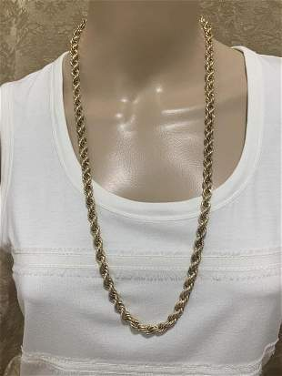 """4K GOLD ROPE CHAIN 30"""" L"""
