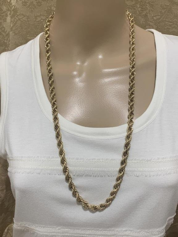 """14K GOLD ROPE CHAIN 30"""" L"""