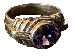 14K GOLD AND AMETHYST RING SZ 105