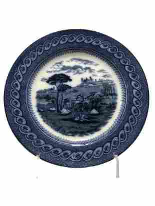 BYZANTIUM BWM CO BLUE AND WHITE PLATE
