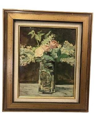 EDOUARD MANET WHITE LILACS AND ROSES PRINT 14