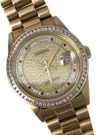 ROLEX RARE 1997 DAY DATE PRESIDENT 18K GOLD WATCH