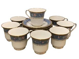 8 NORITAKE GRAND TERRACE CUPS AND SAUCERS