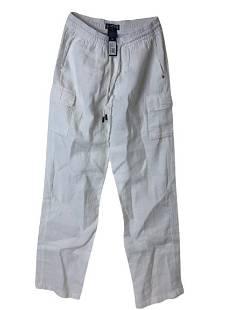 NEW VILBREQUIN MENS WHITE LINEN COTTON PANTS L