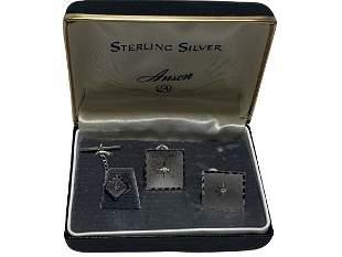 VINTAGE STERLING SILVER CUFFLINK SET
