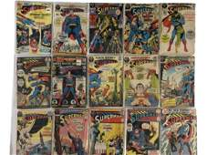 15 VINTAGE DC SUPERMAN COMICS ASSORTED EDITIONS