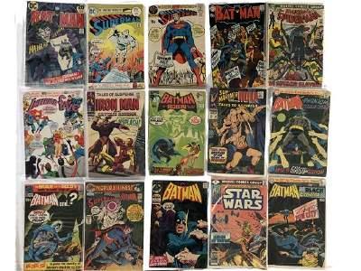 15 VINTAGE DC MARVEL COMICS ASSORTED EDITIONS