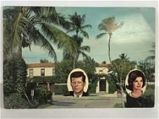 VTG JFK PALM BEACH WHITE HOUSE CAMELOT POSTCARD 9