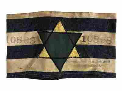 HISTORICAL WWII HOLOCAUST JEWISH STAR ARMBAND
