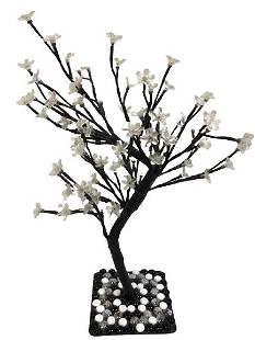 "VTG UNIQUE HANDMADE ILLUMINATED TREE LAMP 22"""