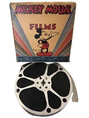 1940'S WALT DISNEY MICKEY PLAYS PAPA FILM REEL 8MM