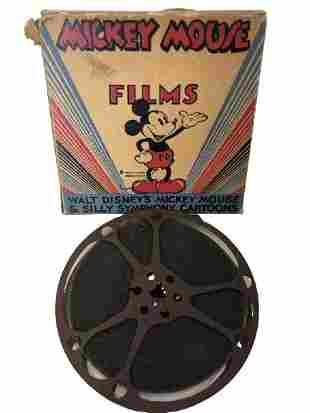"""1940'S WALT DISNEY """"MICKEY'S ELEPHANT"""" FILM REEL"""