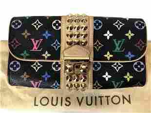 LOUIS VUITTON MULTICOLOR COURTNEY CLUTCH PURSE