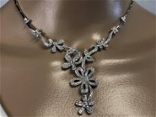 DIAMOND AND 14K WHITE GOLD NECKLACE