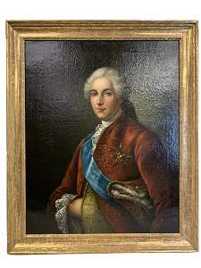 F.H. DROUAIS 18TH C. FRENCH OIL PAINTING DAUPHIN