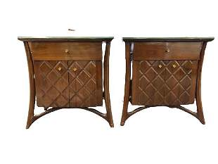 """PAIR MID MOD AMSTERDAM FURNITURE NIGHT STANDS 28"""""""