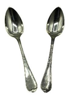 STERLING SILVER BALL BLACK & CO SPOONS 132G