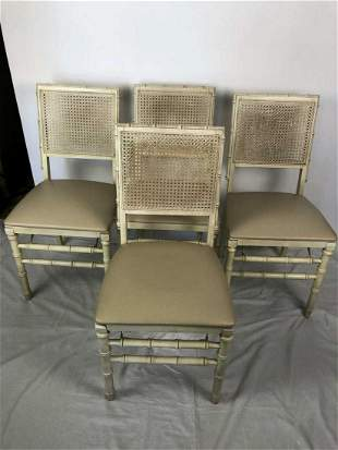 VTG 4 STAKMORE FAUX BAMBOO FOLDING CHAIRS