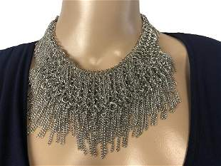 VINTAGE CARA NEW YORK COLLAR-STYLE CHAIN NECKLACE